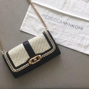 Rebecca Minkoff woven leather chain bag